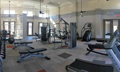 Fitness Weight Room, Manchac Lake Apartments, 1