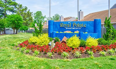 Community Signage, Royal Pointe Apartments and Townhomes, 2