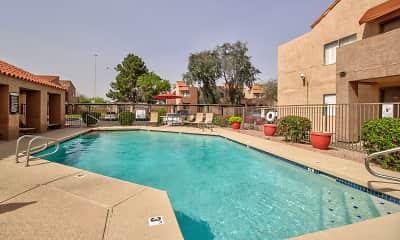 Pool, Desert Wind Apartments, 0