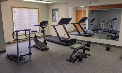Fitness Weight Room, Country Village Apartments, 1