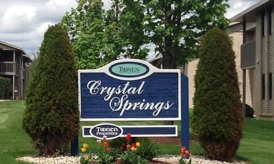 Community Signage, Crystal Springs, 2