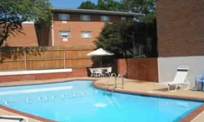 Pool, COLONIAL VILLAGE APARTMENTS, 1
