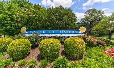Community Signage, Oakcrest Towers, 0