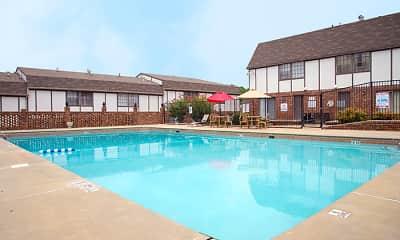 Pool, Bullock Habersham Apartments, 0