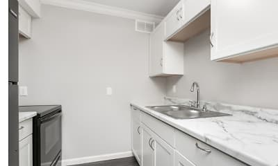 Kitchen, Bear Garden Apartments, 1