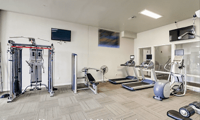 Fitness Weight Room, North Highlands Luxury Apartments, 2