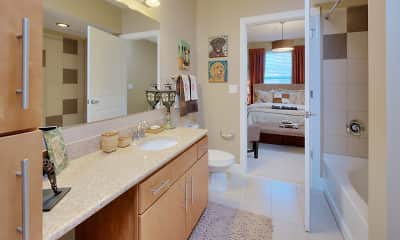 Bathroom, Cielo Apartments, 2