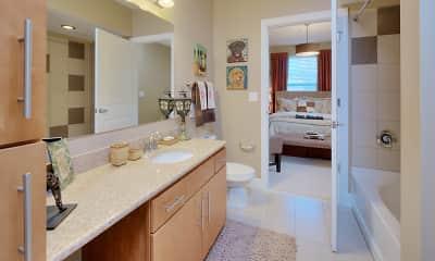 Bathroom, Cielo Apartments, 2