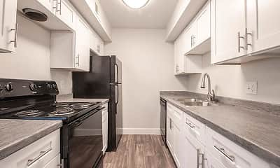 Kitchen, Park Village Apartments, 0