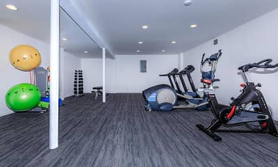 Fitness Weight Room, Park Lane Apartments and Townhomes, 2