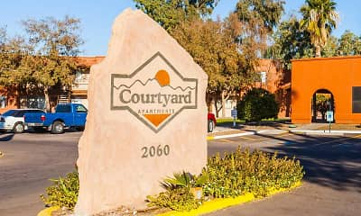 Community Signage, Courtyard Apartments, 2