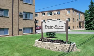 Community Signage, English Manor Apartments, 0