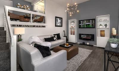 Living Room, On 7th Apartment Homes, 1