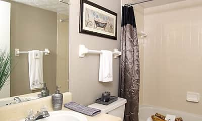 Bathroom, Emerson Village Apartments, 2