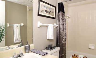 Bathroom, Emerson Village Apartments, 2