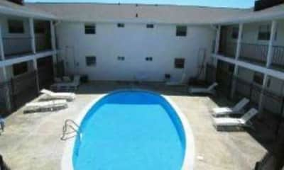 Pool, Gaslite Apartments, 2