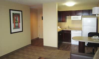 Kitchen, Furnished Studio - Columbus - Tuttle, 1