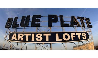 Community Signage, Blue Plate Artist Lofts, 1