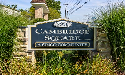 Community Signage, Cambridge Square Apartments, 2