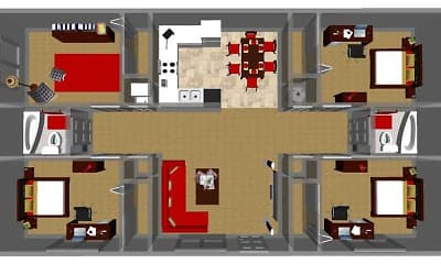 Fitness Weight Room, University Center Apartments, 2