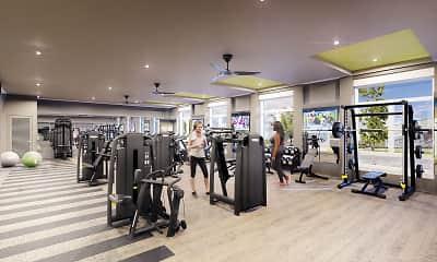 Fitness Weight Room, Vista Brooklyn, 2