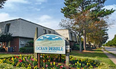Community Signage, Ocean Pebbles, 0