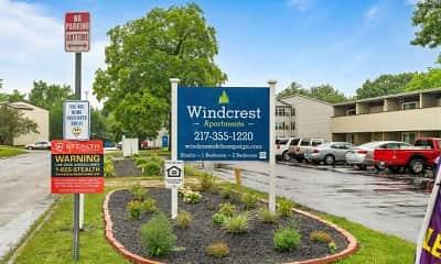 Community Signage, Windcrest Apartments, 2
