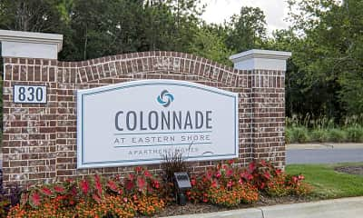 Community Signage, Colonnade at Eastern Shore Apartment Homes, 2