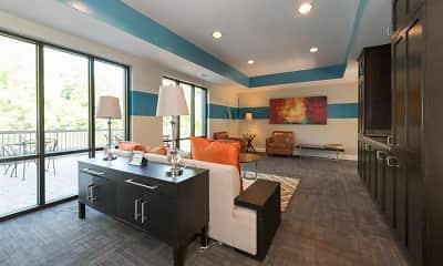 Living Room, District at Vinings - Millennial Lofts, 2