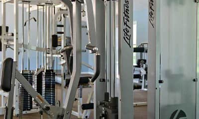Fitness Weight Room, Waterfront Apartments, 1