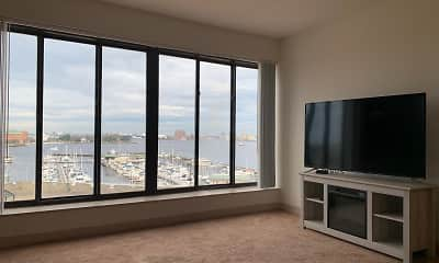 Living Room, Harbor Tower Apartments, 2