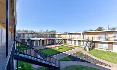Courtyard, Schroeder Apartments, 1