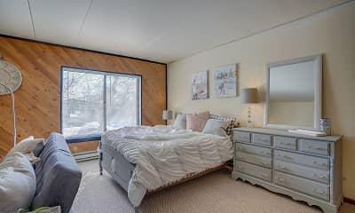 Bedroom, Inez Apartments, 2