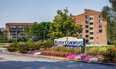 Community Signage, Faxon Commons, 1