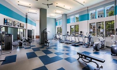 Fitness Weight Room, Radiant Fairfax Ridge Apartments, 2