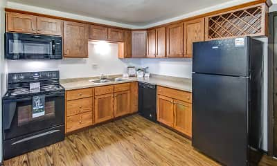 Kitchen, Crestwood Apartments, 1