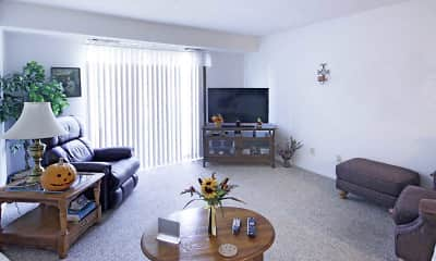 Living Room, Lake Pines Apartments, 1