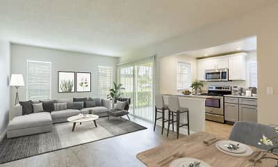 Living Room, Imperial Palms Apartments, 1