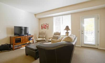 Living Room, Silver Crest Senior living 55+ Apartments, 1
