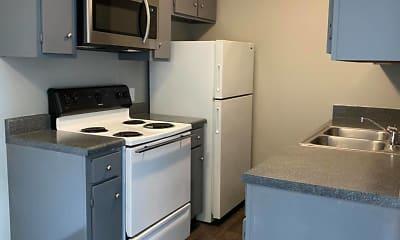 Kitchen, Evergreen Apartments, 0