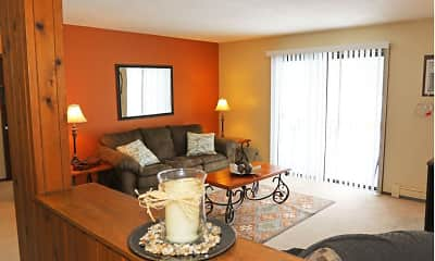 Living Room, Willow Wood Apartments, 0