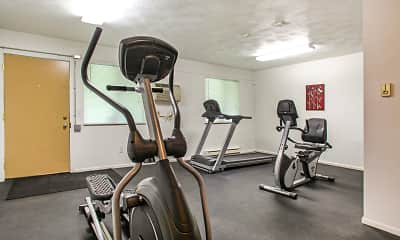 Fitness Weight Room, Parkside Apartments, 1
