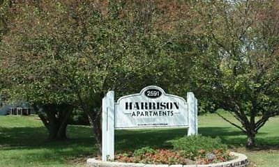 Landscaping, Harrison Apartments of Terre Haute, 1