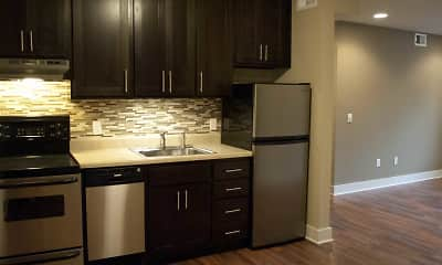 Kitchen, The Oaks At Midtown, 0