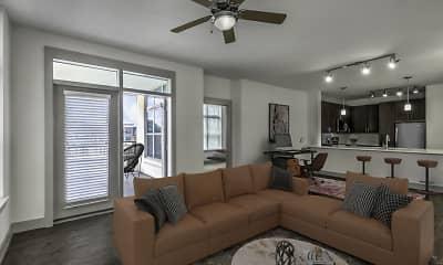 Living Room, Camden Southline Apartments, 1