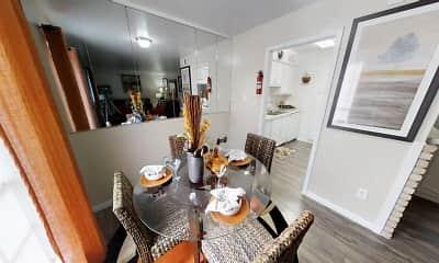 Dining Room, Palms At Chimney Rock, 1