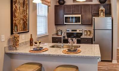 Kitchen, Kingsley Apartments, 1