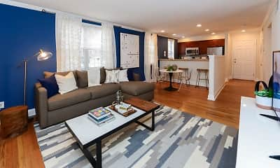 Living Room, The Villas at Bryn Mawr Apartment Homes, 1