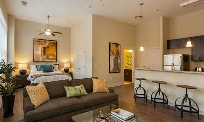 Living Room, Ayrsley Lofts, 0