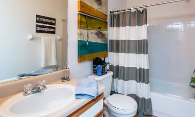 Bathroom, College Club Manor, 2